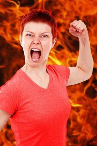De energie van boosheid moet ergens heen.